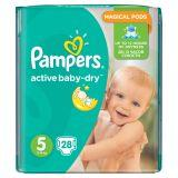Pampers Active Baby-Dry Pieluchy 5 Junior 28 sztuk