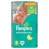 Pampers Active Baby-Dry Pieluchy 3 Midi 68 sztuk
