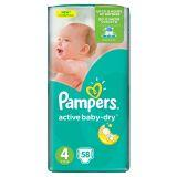 Pampers Active Baby-Dry Pieluchy 4 Maxi 58 sztuk