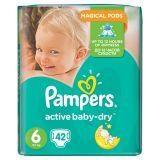 Pampers Active Baby-Dry Pieluchy 6 Extra Large 42 sztuki