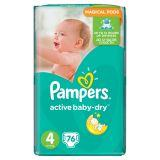 Pampers Active Baby-Dry Pieluchy 4 Maxi 76 sztuk