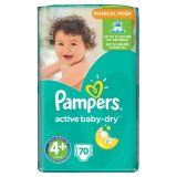 Pampers Active Baby Pieluchy 4+ Maxi+ 70 sztuk