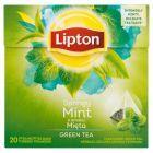 Lipton o smaku Mięta Herbata zielona aromatyzowana 32 g (20 torebek)
