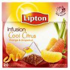 Lipton Fruit Infusion Cool Citrus Orange & Grapefruit Herbatka owocowa 48 g (20 torebek)