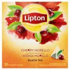 Lipton Herbata czarna aromatyzowana wiśnia Morello 34 g (20 torebek)