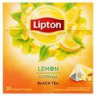 Lipton Herbata czarna aromatyzowana cytryna 34 g (20 torebek)