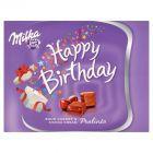 Milka Czekoladki z mleka alpejskiego z nadzieniem kakaowym o smaku wiśniowym Happy Birthday 110 g