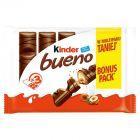 Kinder Bueno Wafel w mlecznej czekoladzie wypełniony mleczno-orzechowym nadzieniem 3 x 43 g