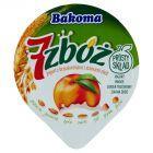 Bakoma 7 zbóż Jogurt z brzoskwiniami i ziarnami zbóż 150 g