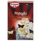 Dr. Oetker Motylki Dekoracje z czekolady mlecznej i białej 28 g (12 sztuk)