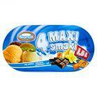 Koral 4 Maxi smaki Lody waniliowo-czekoladowo-ajerkoniakowo-toffi 1,5 l