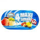 Koral 4 Maxi smaki Lody śmietankowo-truskawkowo-cytrynowo-czekoladowe 1,5 l