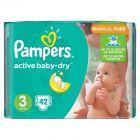 Pampers Active Baby-Dry rozmiar 3 (Midi), 42 pieluszki