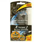 Wilkinson Sword Xtreme 3 Black Edition Jednorazowe maszynki do golenia 4 sztuki