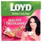 Loyd Herbatka owocowa aromatyzowana o smaku maliny i truskawki 40 g (20 torebek)