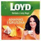 Loyd Herbatka owocowa aromatyzowana o smaku ananasa i gruszki 40 g (20 x 2 g)