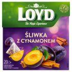 Loyd Herbatka owocowa aromatyzowana o smaku śliwki z cynamonem 40 g (20 x 2 g)