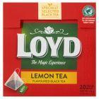 Loyd Herbata czarna aromatyzowana o smaku cytryny 34 g (20 torebek)