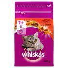Whiskas 1+ lat Karma pełnoporcjowa przepyszne paszteciki z wołowiną 300 g