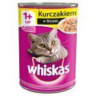 Whiskas 1+ lat Karma pełnoporcjowa z kurczakiem w sosie 400 g