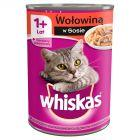 Whiskas 1+ lat Karma pełnoporcjowa z wołowiną w sosie 400 g