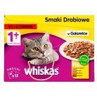 Whiskas Wybór dań drobiowych w galaretce Karma pełnoporcjowa 1+ lat 1,2 kg (12 saszetek)