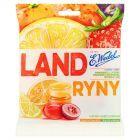 E. Wedel Landryny Cukierki o smaku pomarańczy cytryny truskawki winogrona migdała i coli 90 g