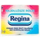 Regina Najdłuższe Rolki Dwuwarstwowy Papier toaletowy 4 rolki