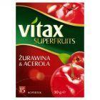 Vitax Superfruits Żurawina i Acerola Herbata ziołowo-owocowa 30 g (15 kopertek)