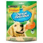 Friskies Dental Delicious z kurczakiem Uzupełniająca karma dla dorosłych psów 200 g (7 sztuk)