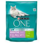 PURINA ONE Sensitive Pełnoporcjowa karma dla dorosłych kotów bogata w indyka i ryż 800 g