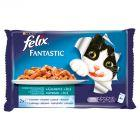 Felix Fantastic Uczta oceanu w galaretce Pełnoporcjowa karma dla dorosłych kotów 4 x 100 g