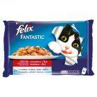 Felix Fantastic Wybór mięs w galaretce Pełnoporcjowa karma dla dorosłych kotów 4 x 100 g