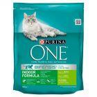 PURINA ONE Indoor Formula Karma dla dorosłych kotów bogata w indyka i pełne ziarna 800 g