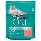 PURINA ONE Adult Pełnoporcjowa karma dla dorosłych kotów bogata w łososia i pełne ziarna 800 g