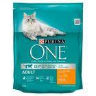 PURINA ONE Adult Pełnoporcjowa karma dla dorosłych kotów bogata w kurczaka i pełne ziarna 800 g