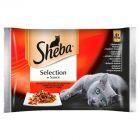 Sheba Selection in Sauce Soczyste Smaki Karma pełnoporcjowa 340 g (4 sztuki)
