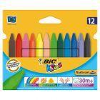 Bic Kids Plastidecor Triangle Trójkątne kredki świecowe 12 kolorów