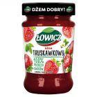 Łowicz Dżem truskawkowy niskosłodzony 280 g