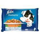 Felix Fantastic Uczta oceanu z warzywami w galaretce Pełnoporcjowa karma dla kotów 4 x 100 g