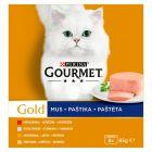 Gourmet Gold Mus Pełnoporcjowa karma dla dorosłych kotów 8 x 85 g