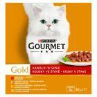 Gourmet Gold Kawałki w sosie Pełnoporcjowa karma dla dorosłych kotów 8 x 85 g