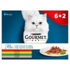Gourmet Perle Mini Fileciki w sosie Pełnoporcjowa karma dla dorosłych kotów 8 x 85 g