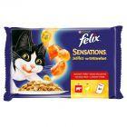 Felix Sensations w smakowitej galaretce Pełnoporcjowa karma dla dorosłych kotów 400 g (4 saszetki)