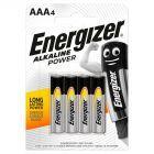 Energizer Alkaline Power AAA-LR03 1,5V Baterie alkaliczne 4 sztuki