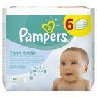 Pampers Fresh Clean chusteczki dla niemowląt 6 x 64 sztuki