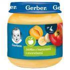 Gerber Jabłka z bananami i morelami po 4 miesiącu 125 g