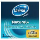 Unimil Natural+ Prezerwatywy 3 sztuki