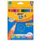 Bic Kids Evolution Kredki bezdrzewne z żywicy syntetycznej 18 kolorów