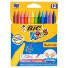 Bic Kids Plastidecor Kredki świecowe 12 kolorów